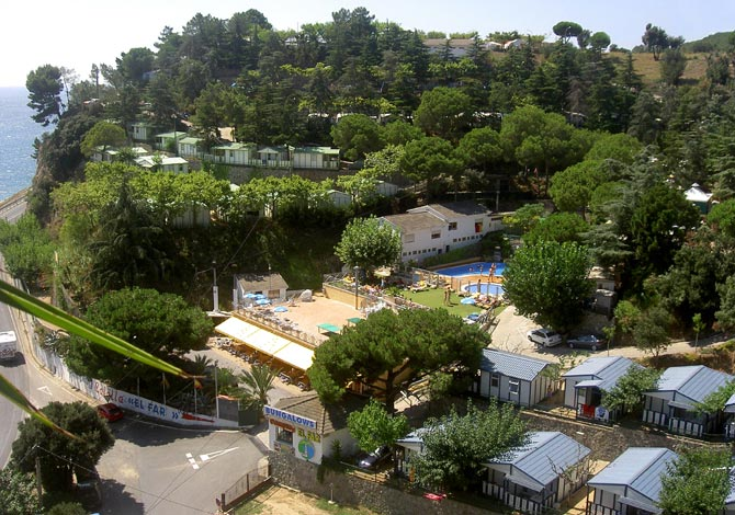 Vue d'ensemble du centre de vacances Camping El Far en Espagne