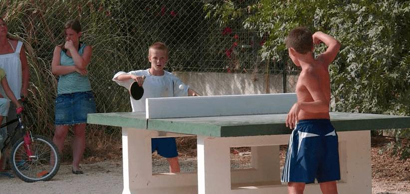table de ping pong du camping equinoxe